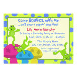 Frog Bounce Birthday Invites