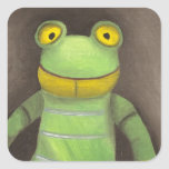 Frog Boy Square Stickers