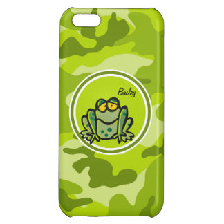 Frog bright green camo camouflage iPhone 5C cover