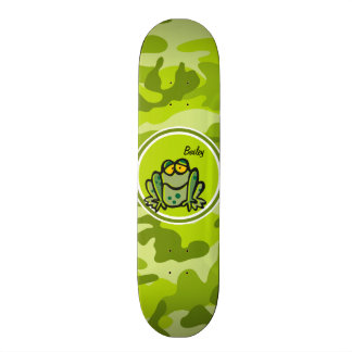 Frog bright green camo camouflage skateboards
