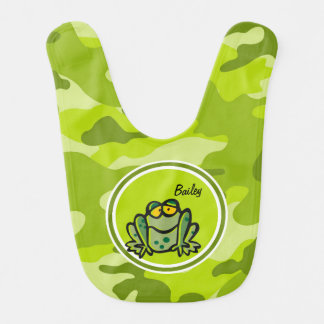 Frog bright green camo camouflage bib