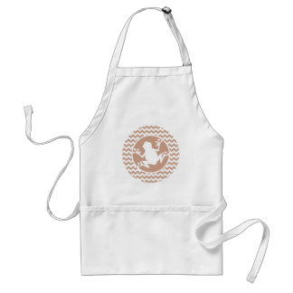 Frog; Brown Chevron Standard Apron