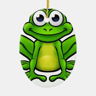 Frog Cartoon Character Ceramic Oval Decoration