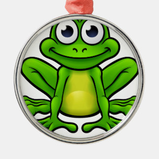 Frog Cartoon Character Christmas Ornament