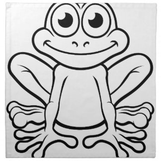 Frog Cartoon Character Napkin