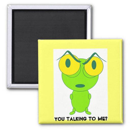 frog cartoon you talking to me magnet zazzle. Black Bedroom Furniture Sets. Home Design Ideas