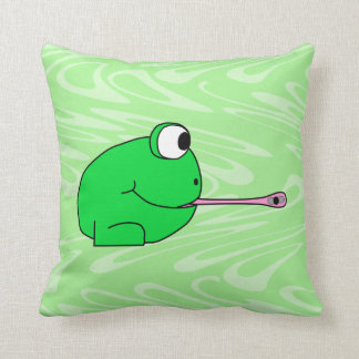 Frog Catching a Fly. Cushion