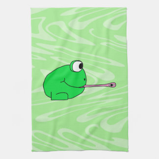 Frog Catching a Fly. Tea Towel