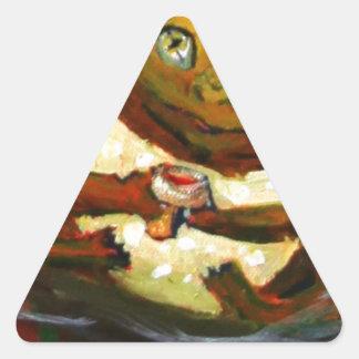 Frog celebrating with wine triangle sticker