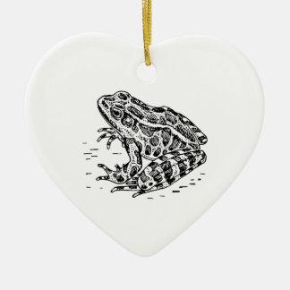 Frog Ceramic Heart Decoration
