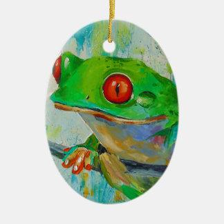 Frog Ceramic Oval Decoration