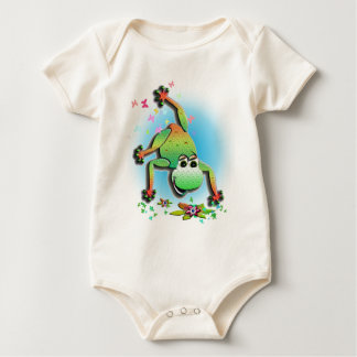 Frog Character One-Piece Baby Bodysuits
