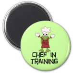 Frog Chef in Training Tshirts and Gifts 6 Cm Round Magnet