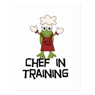 Frog Chef in Training Tshirts and Gifts Postcard