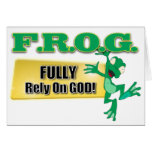 FROG CHRISTIAN ACRONYM FULLY RELY ON GOD GREETING CARD