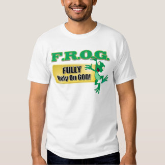 FROG CHRISTIAN ACRONYM FULLY RELY ON GOD TSHIRT