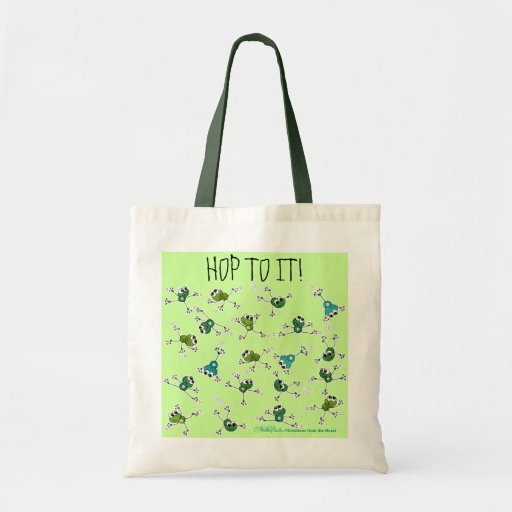 Frog Collage Tote Bag