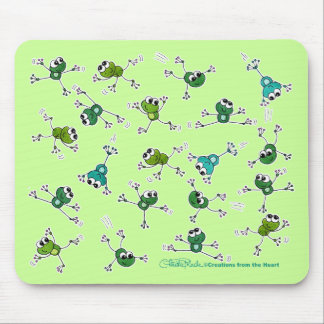 Frog Collage Mouse Mat