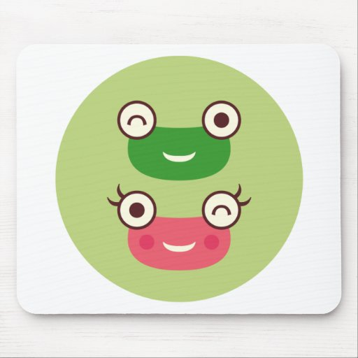 """""""Frog Couple"""" Mouse Pad"""