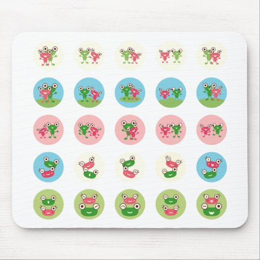 frog couple mouse pad
