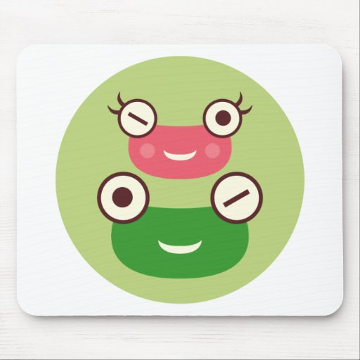 """Frog Couple"" Mousepads"