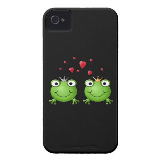 Frog Couple with hearts. iPhone 4 Cover