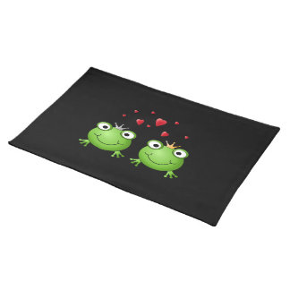 Frog Couple with hearts. Place Mat