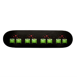 Frog Couple with hearts Skate Decks