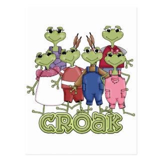 Frog Croak Tshirts and Gifts Postcard