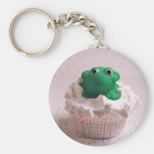 Frog Cupcake Keychain