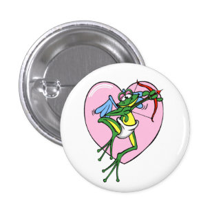 Frog Cupid - Button