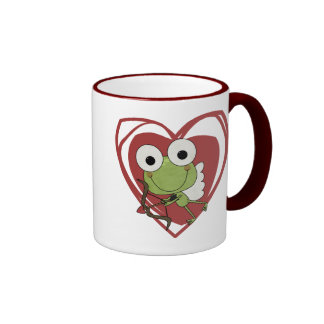 Frog Cupid Valentine T-shirts and Gifts Mugs