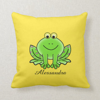 Frog cute animal kids baby room nursery cushion