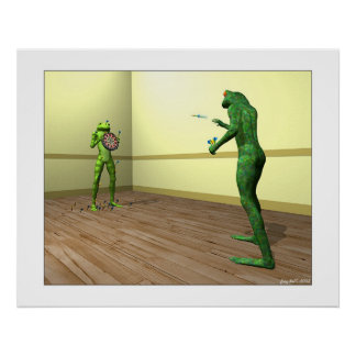 Frog Darts Print