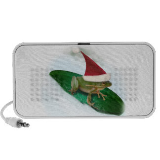 Frog Dashing Through the Snow on a Lily Pad Speakers