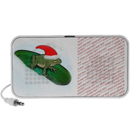 Frog Dashing Through the Snow on a Lily Pad Mp3 Speaker