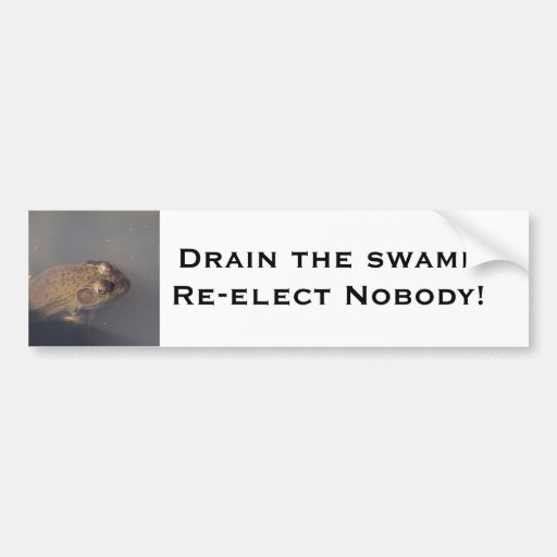 frog Drain the swamp Bumper Stickers