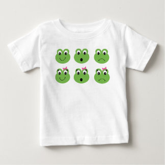 Frog Emoticon Girls Funny Emotions Baby T-Shirt