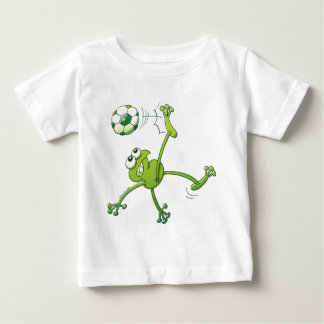 Frog Executing a Bycicle Kick with a Soccer Ball Tee Shirt