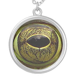 Frog Eye Round Pendant Necklace