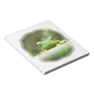 Frog Eyes Notepad