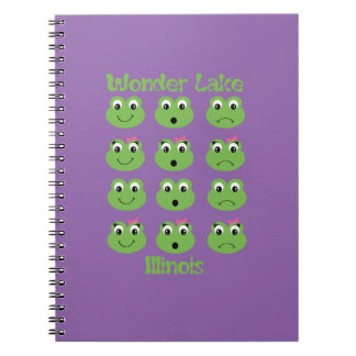 Frog Face Photo Notebook (80 Pages B&W)