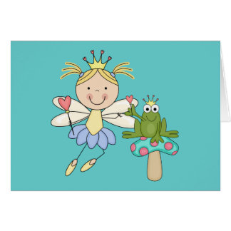 Frog Fairy Magic Blond Tshirts and Gifts Greeting Card