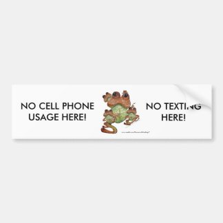 Frog Family Portrait (NO TEXTING) Bumper Sticker