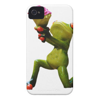 Frog flowers iPhone 4 Case-Mate case