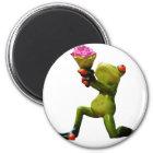 Frog flowers magnet