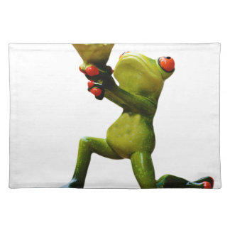 Frog flowers placemat