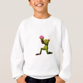 Frog flowers sweatshirt