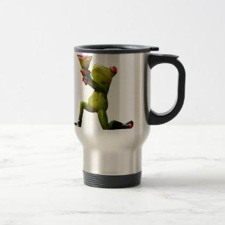 Frog flowers travel mug