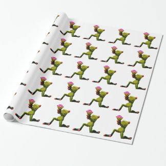 Frog flowers wrapping paper
